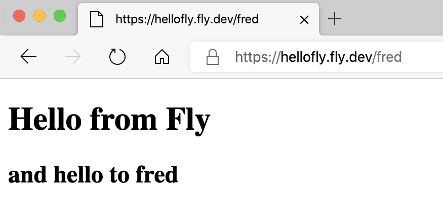 Hello from Fly Screenshot